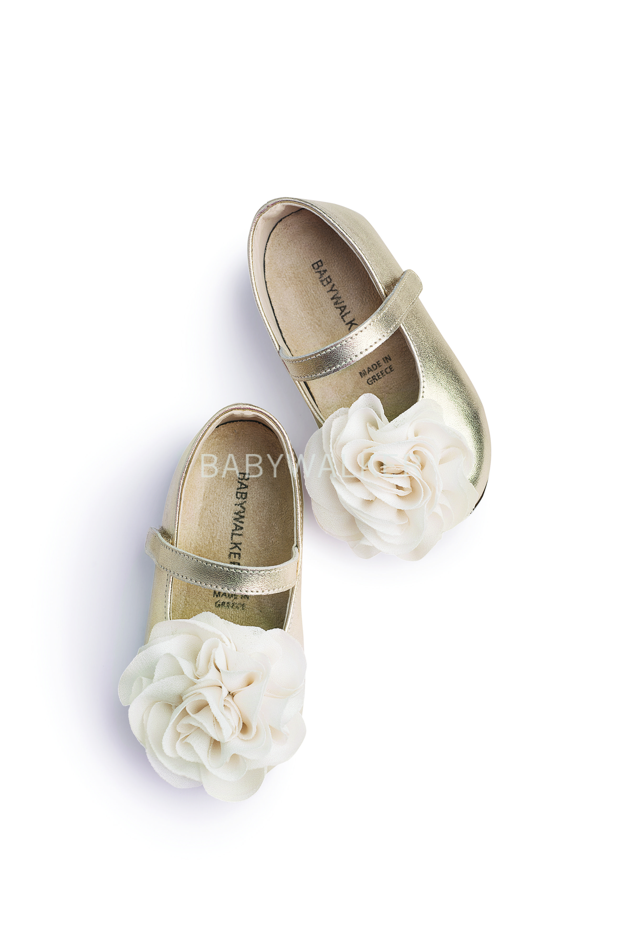 f2c17ab1d3a Βαπτιστικό παπούτσι Babywalker για κορίτσι από δέρμα μεταλιζε σε χρυσό Mary  Janes, Βρεφικά Παπούτσια