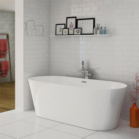 Windsor Brooklyn 1690 x 790mm Double Ended Freestanding Bath ...