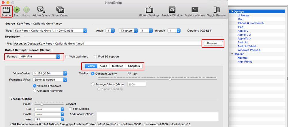 Handbrake für Mac Download DVD Videos konvertieren mit