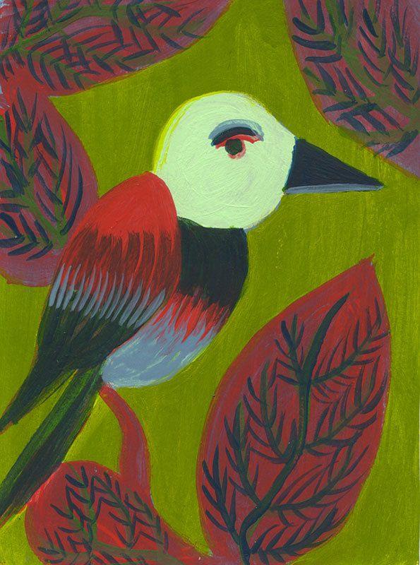 Oiseau Magique - Magical Bird de la boutique ValerieBelmokhtarArt sur Etsy