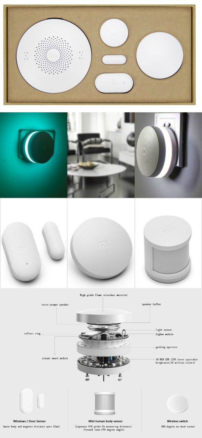 the xiaomi smart home kit requires no wiring and is the perfect budget security system for a small apartment especially a rental  [ 700 x 1517 Pixel ]