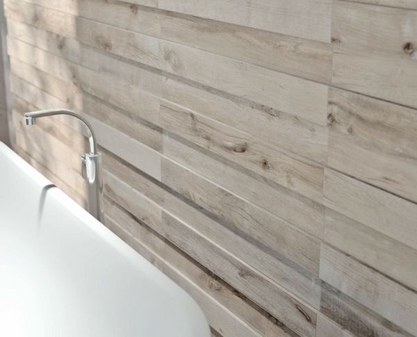 Keramik Fliesen Imitieren Holz Badezimmer Wandgestaltung Ideen   Das Ist