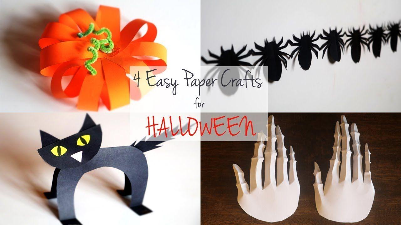 4 Easy Halloween Paper Crafts
