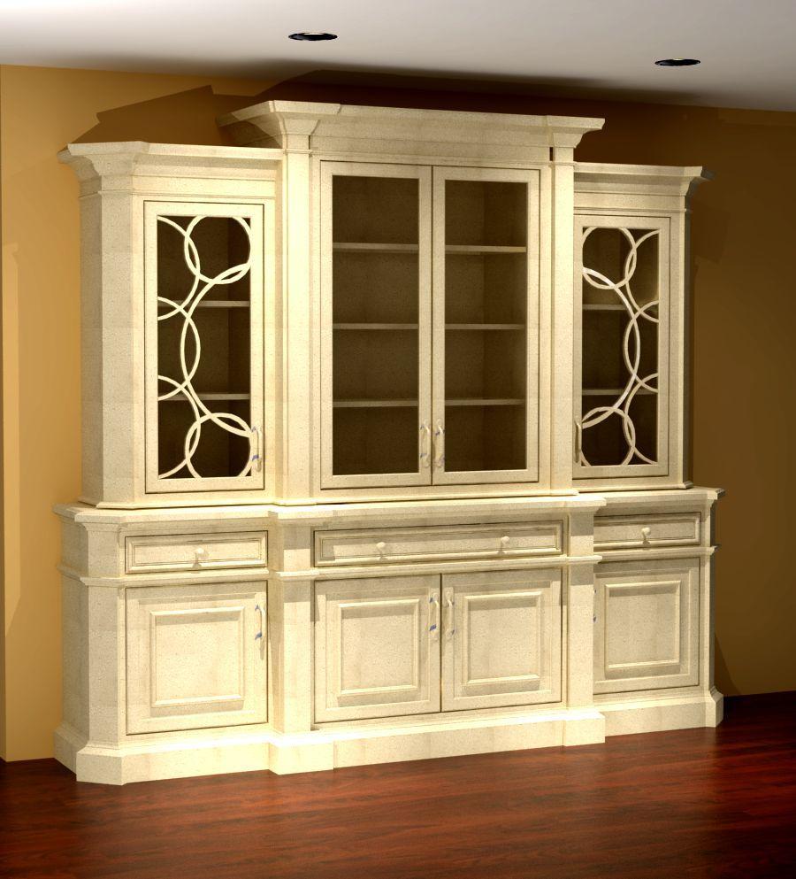 Exceptional Breakfront Furniture Rendering