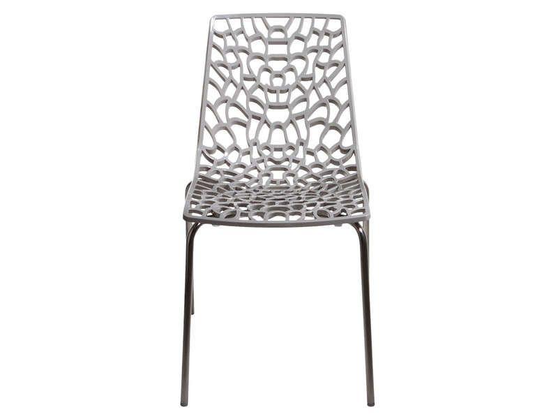 Chaise GROOVE 2 coloris gris - Vente de Chaise de cuisine