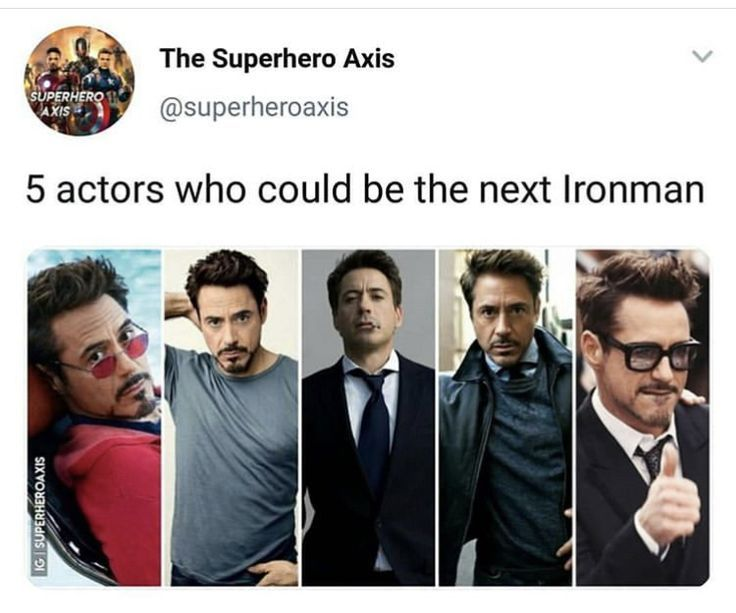 Robert Downey Jr is Tony Stark Iron Man