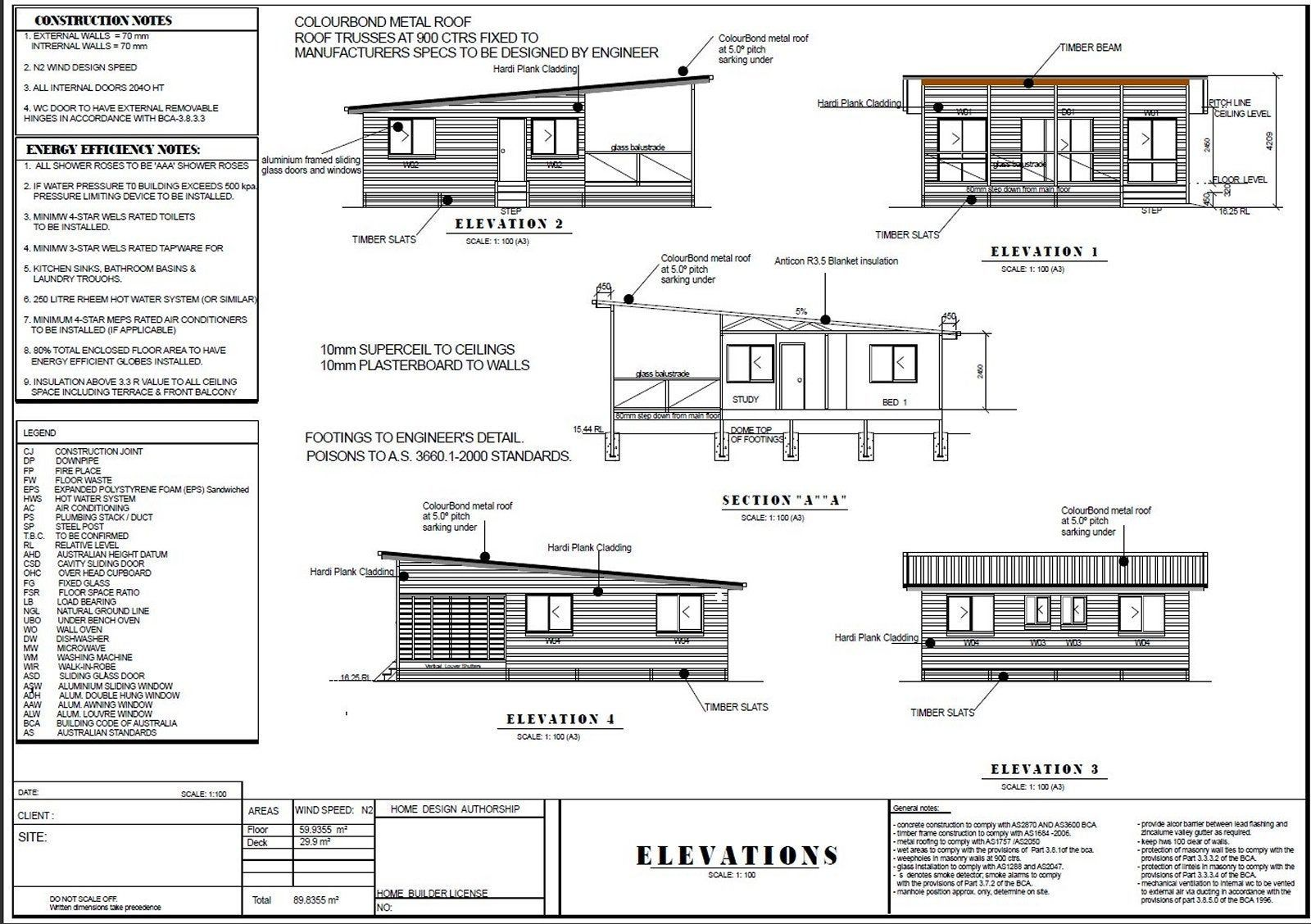 2 Bedroom House Plan 89 8 M2 Or 966 Sq Foot Australia And Etsy Bedroom House Plans 2 Bedroom House Plans House Plans