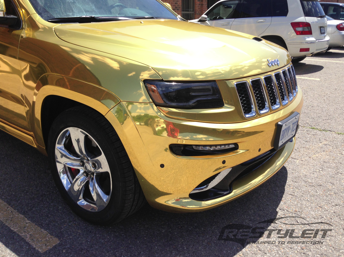 Ordinaire 2014 Jeep Grand Cherokee SRT8 Wrapped In Gold Chrome