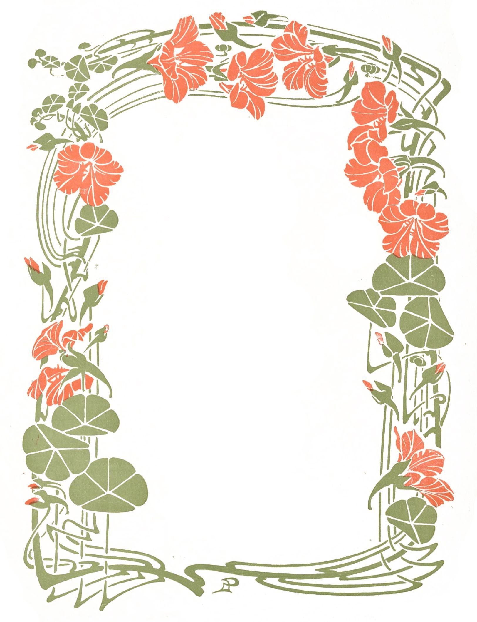 vintage art nouveau decorative floral frame borad 1 in 2019. Black Bedroom Furniture Sets. Home Design Ideas