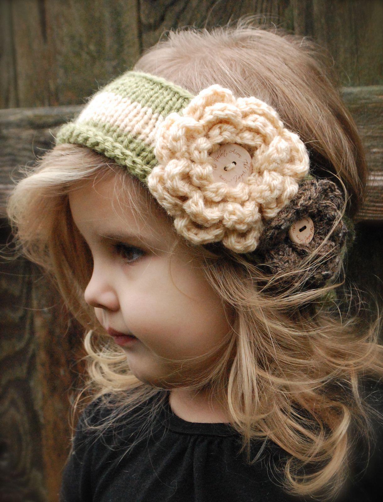 Cute headband...... would look adorable | knitted cutesy stuff ...