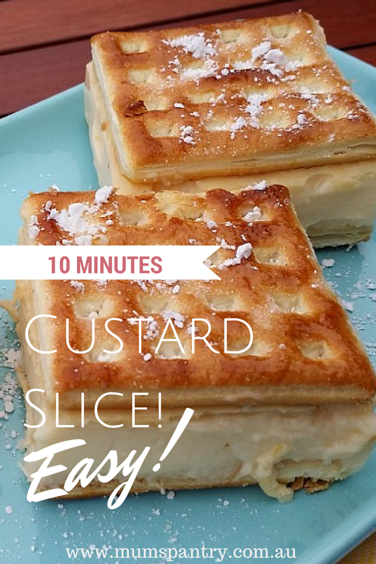 10 Minute Custard Slice (Thermomix Version) - Mum's Pantry