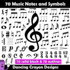 Music Notes and Symbols - Clip Art  This is a practical set containing 70 of the most common music notes and symbols used in the classroom.    All ...