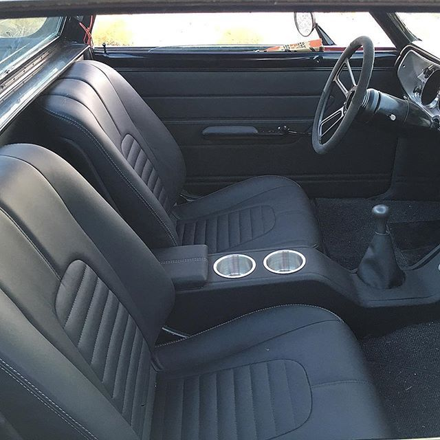 Websta Deluxeinteriors Jose Finishing Up This 1965 Elcamino For A Good Friend Restomod Protouring Custom Truck Interior Custom Car Interior Gmc Trucks