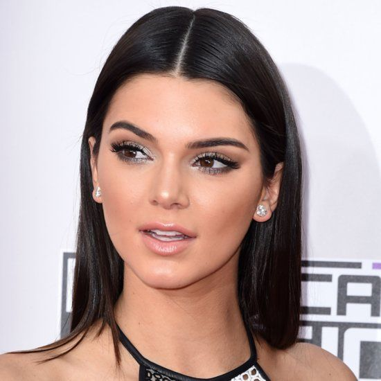 Celebrity Hairstyles Kendall Jenner Middle Parted Hairstyles Long Hair 2014 Selene Gomez Hairs Kendall Jenner Makeup Middle Part Hairstyles Date Night Makeup