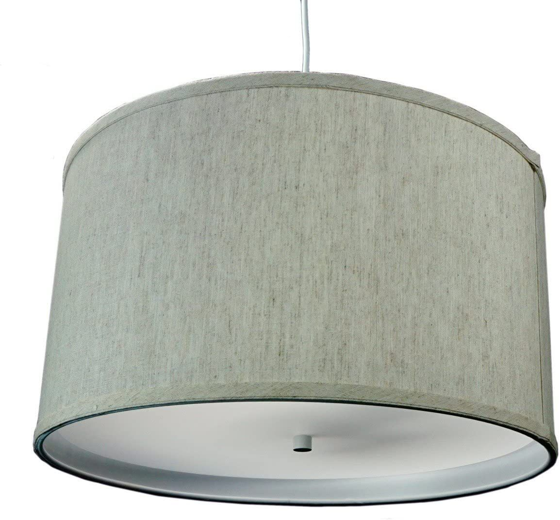 HomeConcept SDW181810DRTO Textured Oatmeal 2 Light Swag Plug-in Pendant with Diffuser - Tools & Home Improvement - Lighting & Ceiling Fans - Ceiling Lights - Pendant Lights #lighting #lights