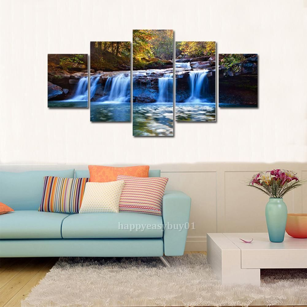 framed wall art for living room elle decor rooms 5pcs hd modern print painting canvas mural ebay