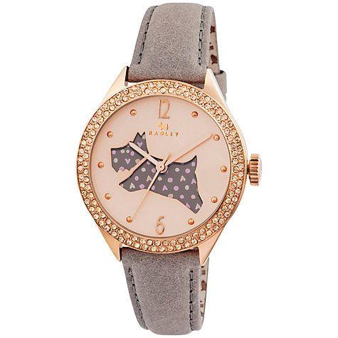 Buy Radley RY2206 Women's Marsupial Leather Strap Watch, Grey Online at johnlewis.com