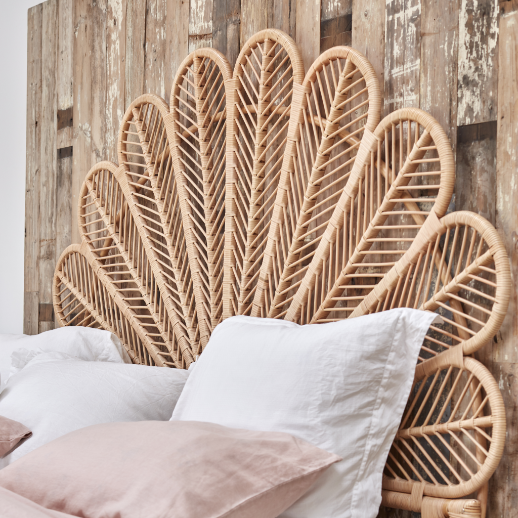 Daisy Natural Rattan Headboard Super King In 2020 Rattan
