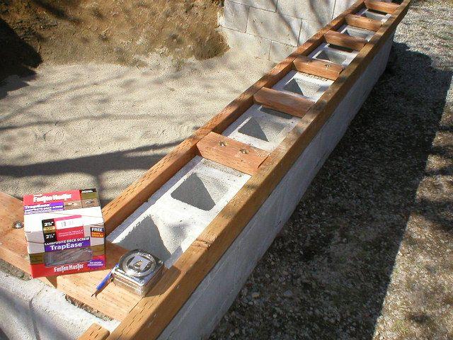Pin By Linda Kite On Gardening Cinder Block Bench Concrete Block Walls Cinder Block