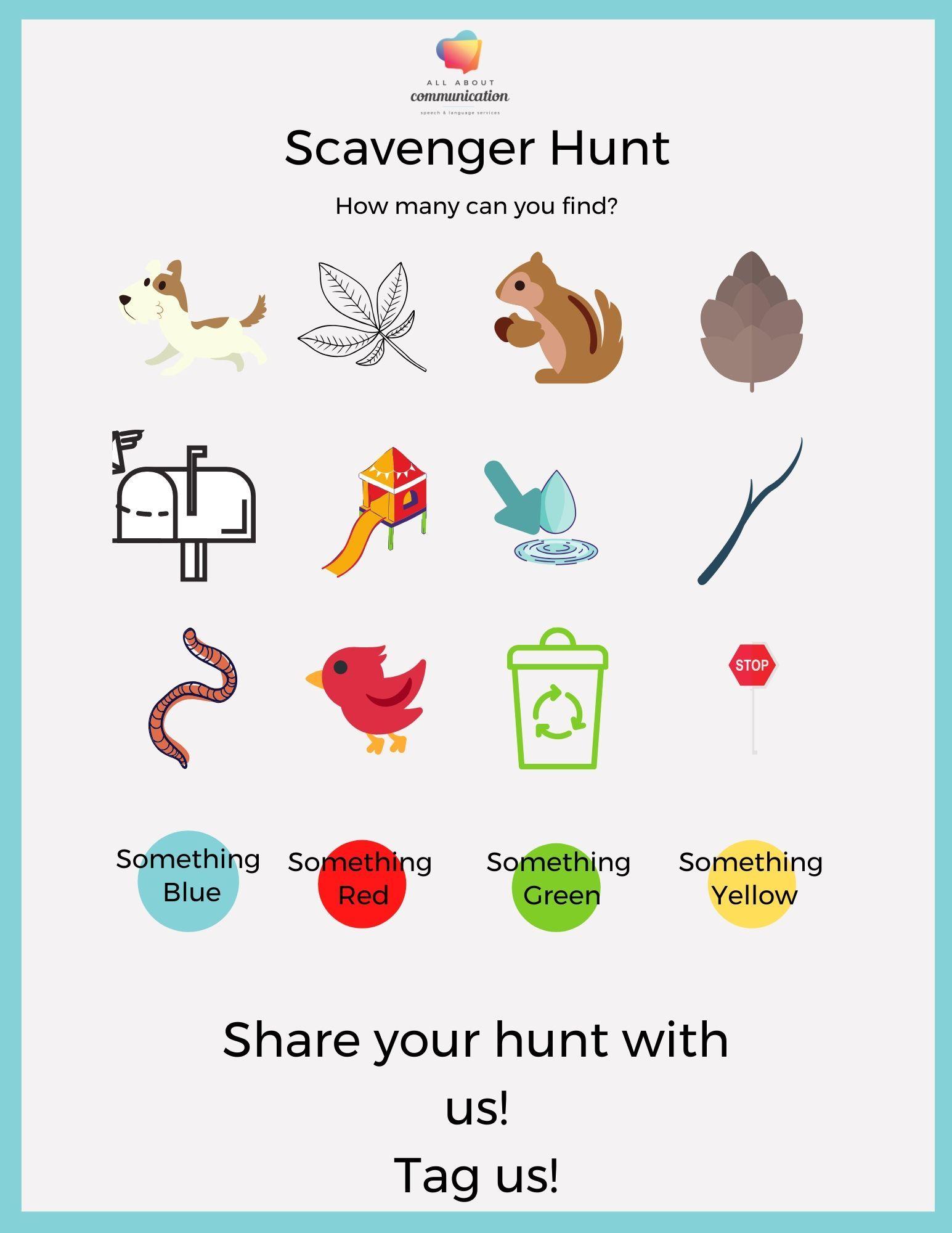 Outdoor Scavenger Hunt In