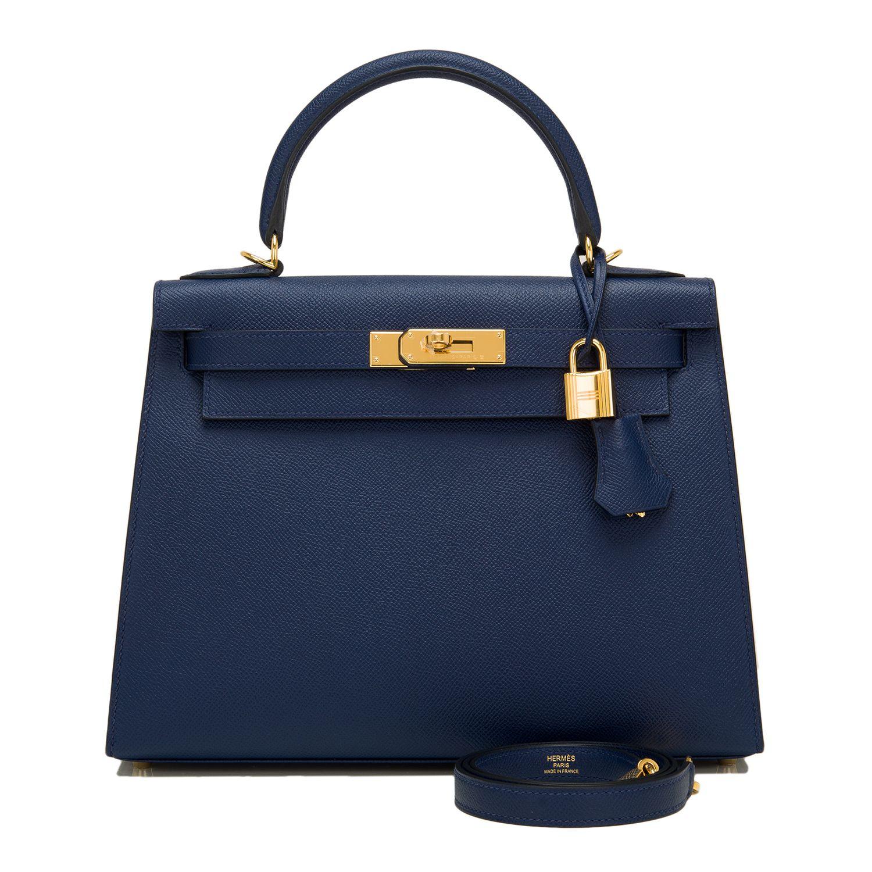 bc81c0fe6e8 Hermes Kelly Blue Sapphire Epsom Gold Hardware 28