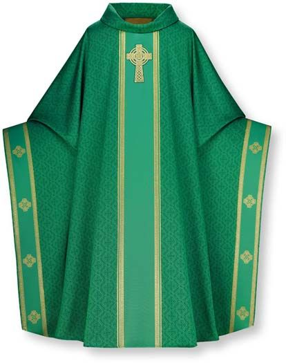 casulla-verde. Es el color más corrientea lo largo del año litúrgico. |  Ecclesiastical vestments, Vestment, Thailand dress