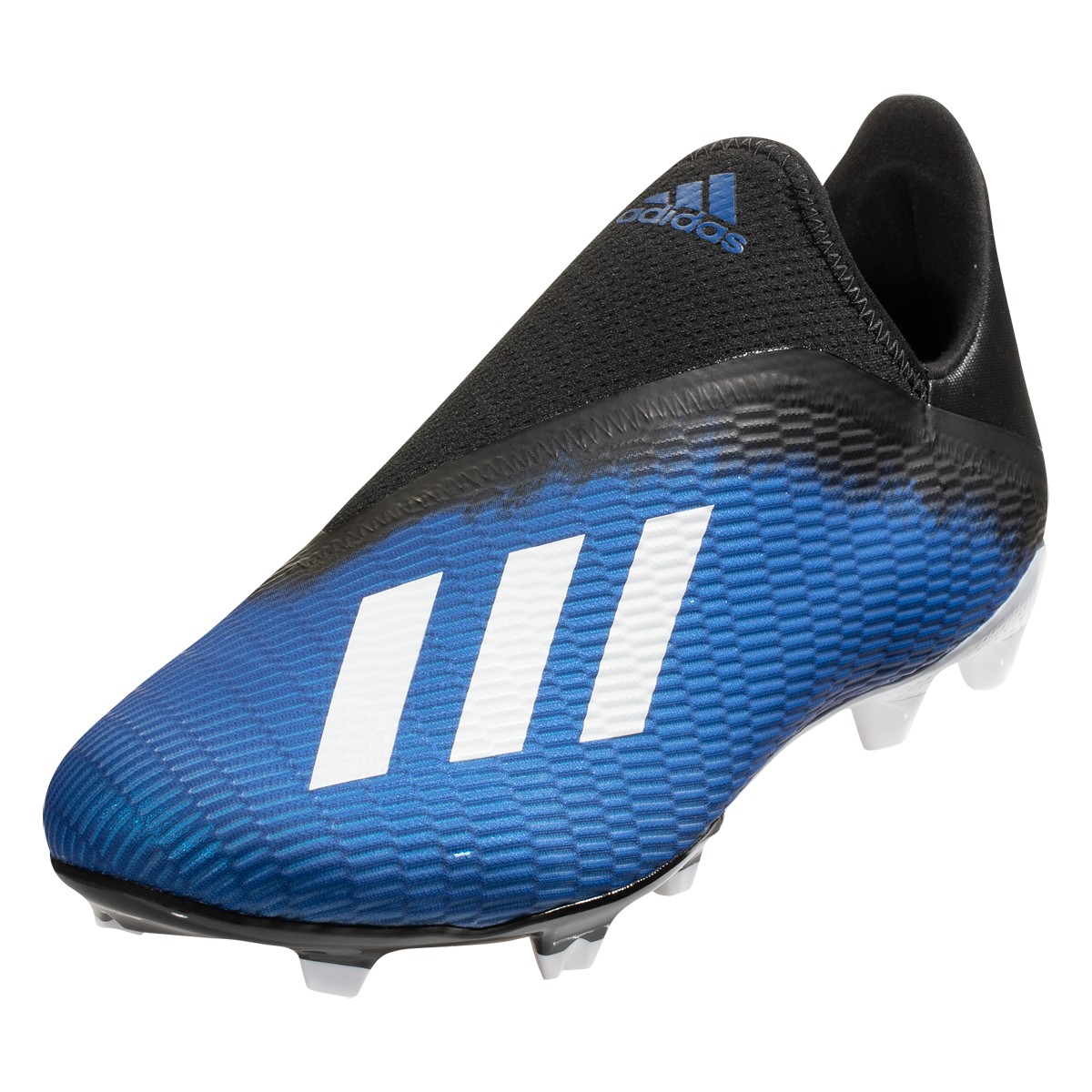 Adidas X 19 3 Laceless Fg Soccer Cleat Royal Blue White Black 10 5 In 2020 Soccer Cleats Blue White Black 13