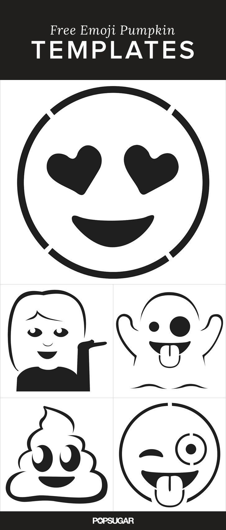 Here Are the Emoji Pumpkin Templates of Your Dreams   Pinterest ...