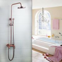 Photo of Vintage Copper Rainfall Shower Head Hand Faucet Set Spray Mixer Wall Mounted