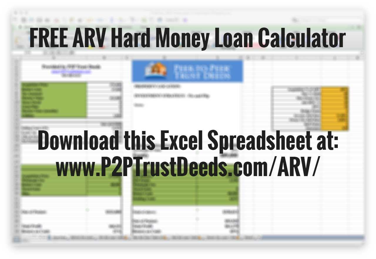 Download A Free Fix Flip Arv After Repair Value Excel