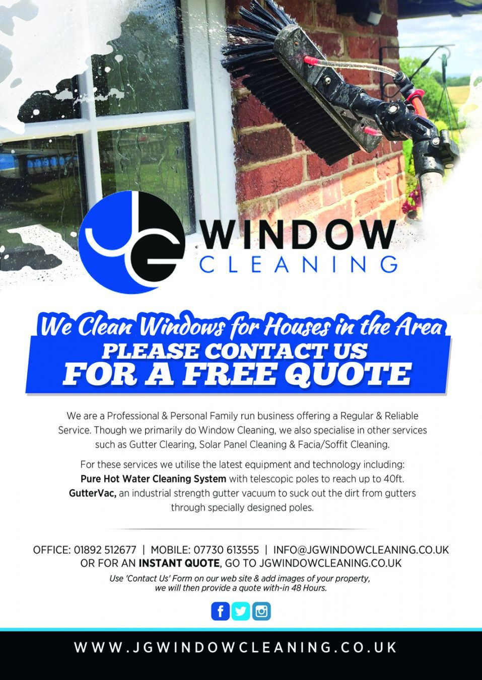 Browse Our Example of Window Cleaning Flyer Template for