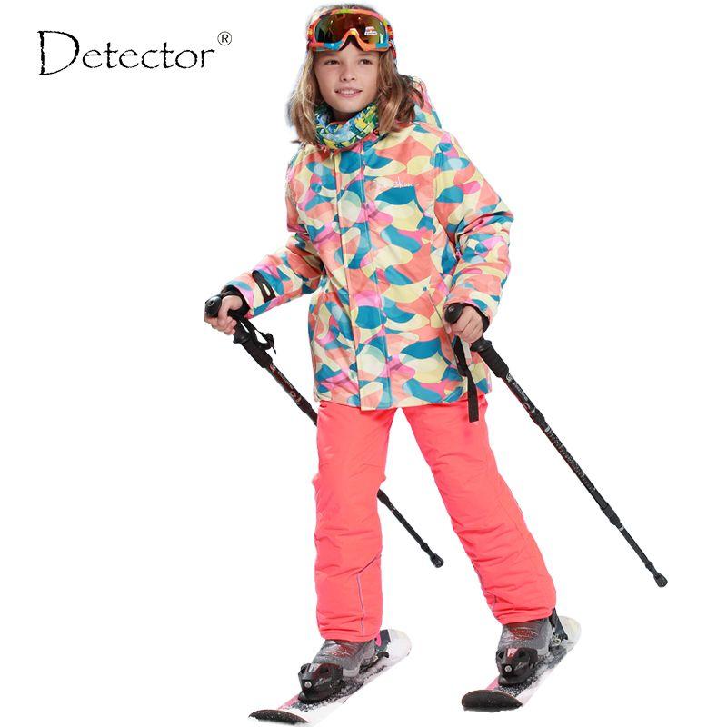 5045c4ba2b3d skiing jacket+pant snow suit fur lining -20-30 DEGREE ski suit ...