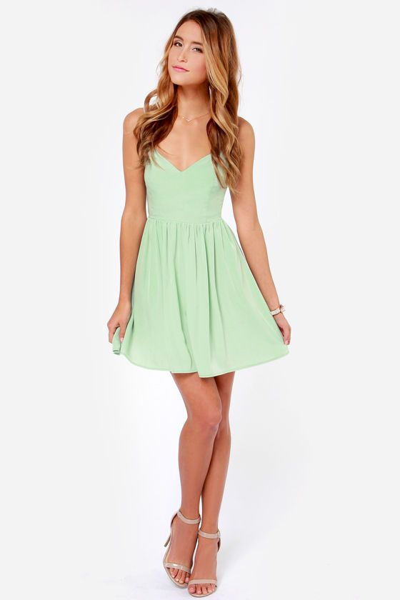 Tie By Night Backless Mint Green Dress At Lulus