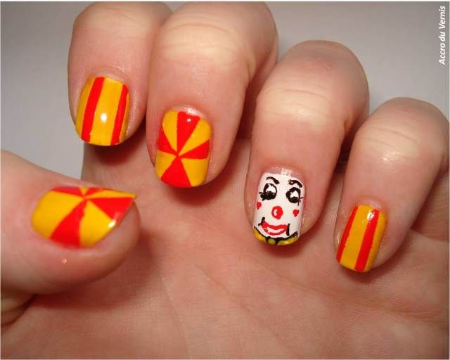 Circus Nails Nailstorming Locks Of Love Pinterest