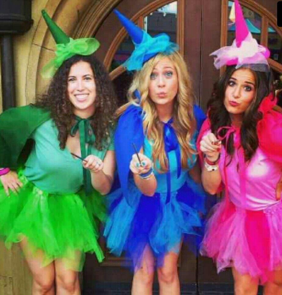 The 3 Fairies From Sleeping Beauty Trio Halloween Costumes