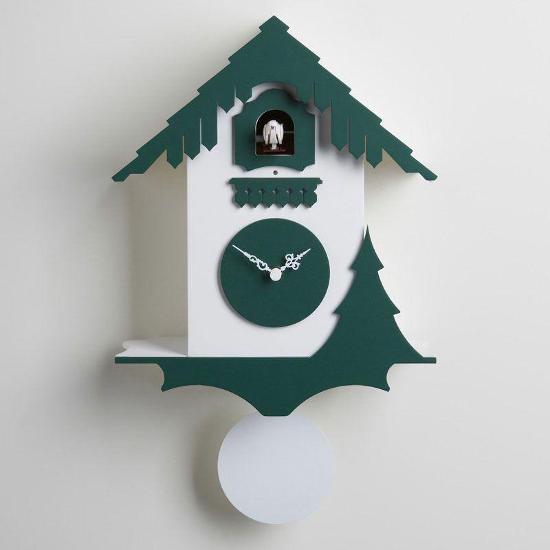 Orologio da Muro a Cucu CHALET 27x12xh44 cm in legno di betulla ...