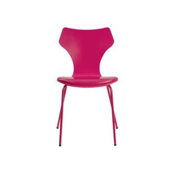 Fly chaise smoothy 2 39 90 chaise laque rose avec coussin chaises chaise salle a manger - Chaise design fly ...