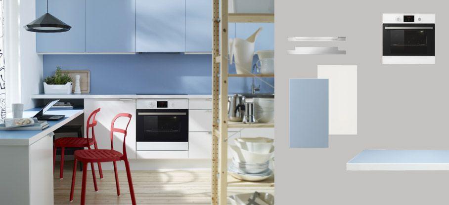Küche Hellblau faktum küche mit applåd türen schubladen weiss rubrik applåd türen