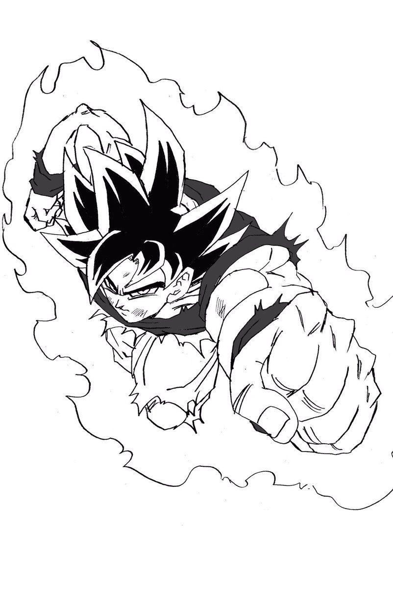 Insertado Dibujo De Goku Dragon Ball Gt Y Dibujos De Dragon