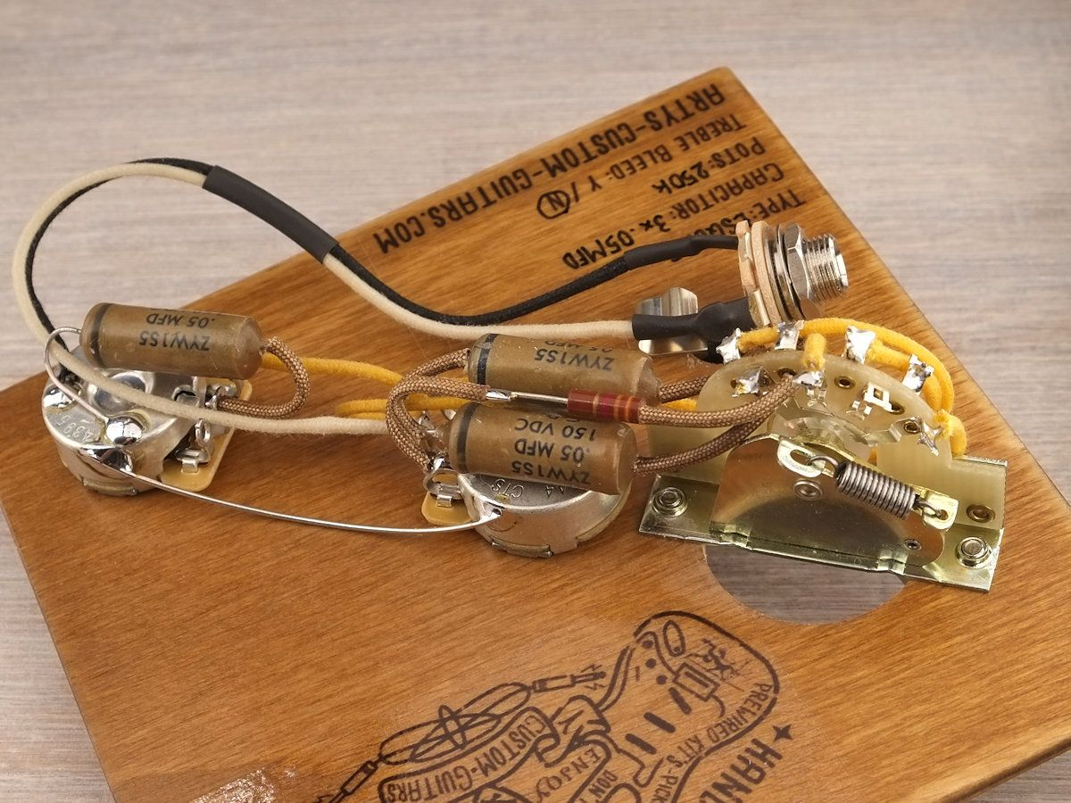 Esquire Vintage Pre Wired Kit Wiring Harness Assembly Custom Guitar Artys Guitars 1950 Prewired Arty Tele