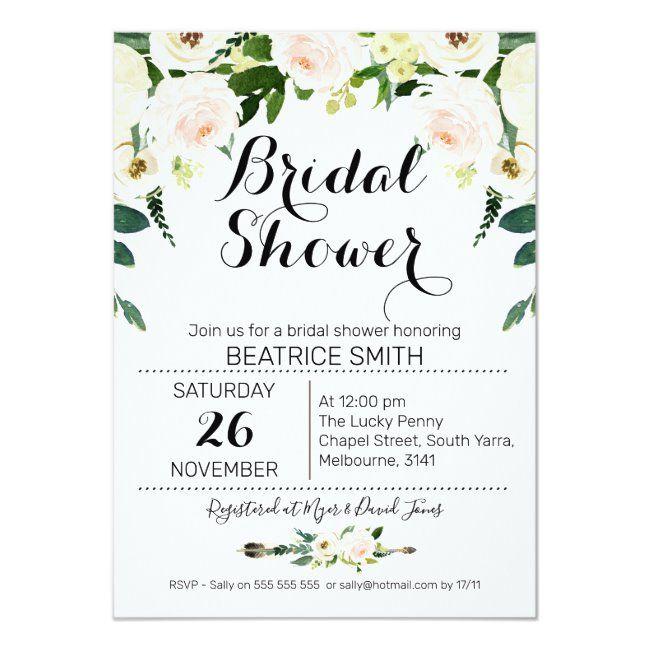Rustic Boho Pink Floral Bridal Shower Invitation #rustic #floral #baby #shower Boho themed baby shower ideas! Decoration ideas games menu inspiration favors gifts and more! #bohobabyshower #bohemianbaby #bohokid #babyshowerideas