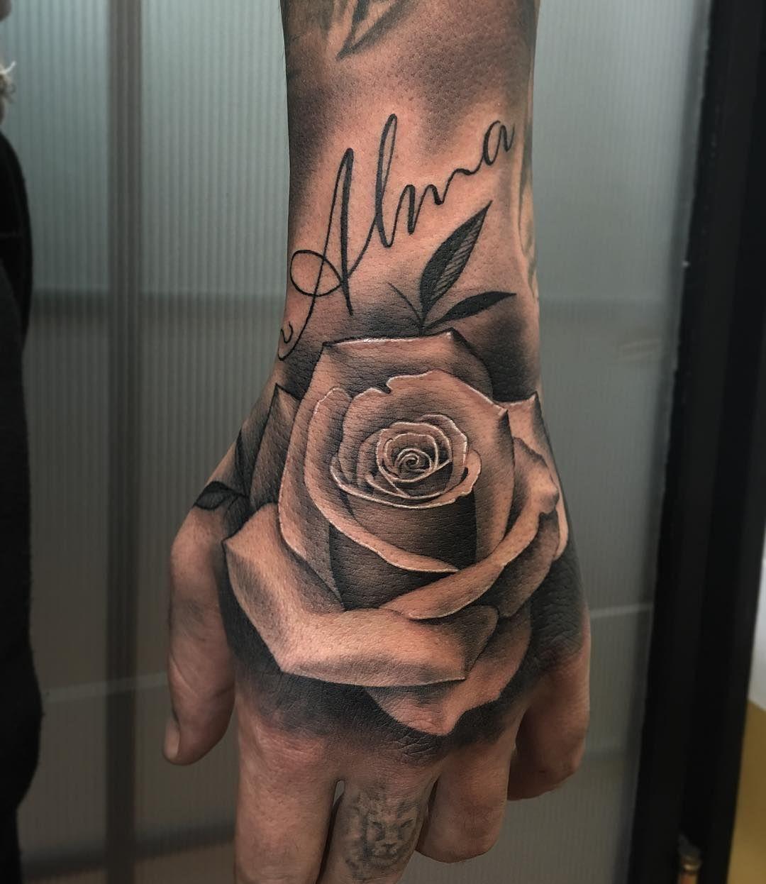 Epingle Par Fr Freddy Sur My Tattoo Tattoos Hand Tattoos Et Rose