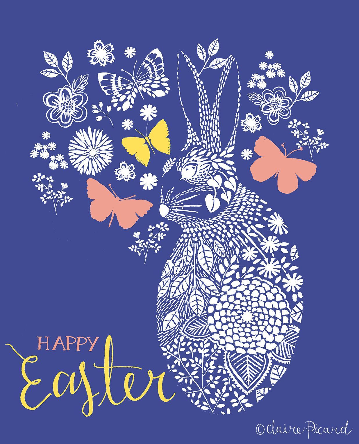 Easter card by Claire Picard www.clairepicarddesign.com