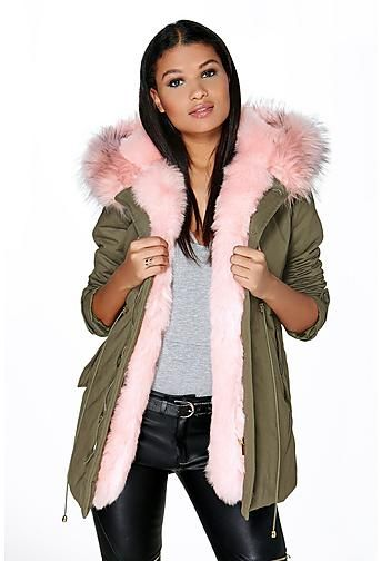225aae2a5c7 Boutique Maria Faux Fur Trim Parka | Best outfits in 2019 | Womens ...