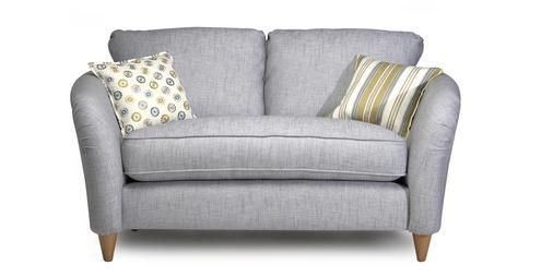 The Casa Mila Formal Back Cuddler Sofa In Silver. Housebeautiful.co.uk