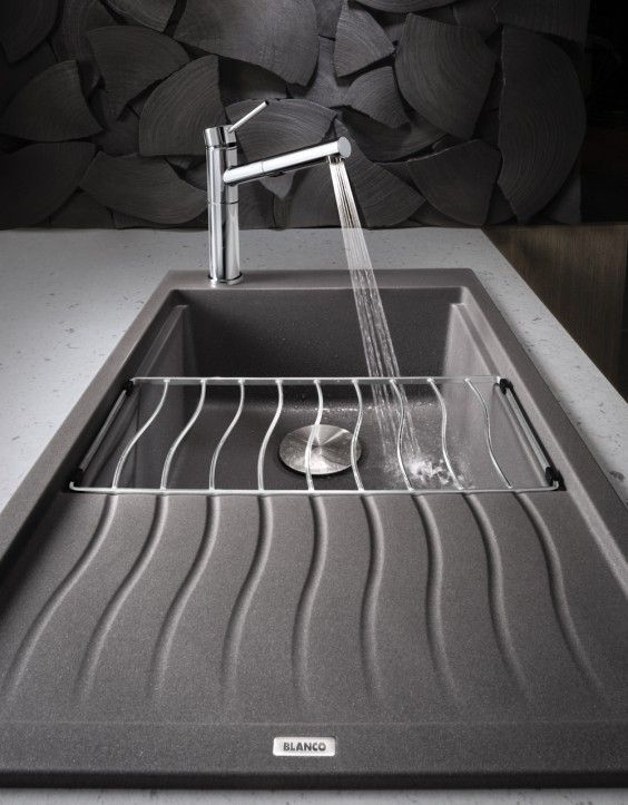 Blanco Silgranit Ii Sinks Precis Medium Single W Drainer This Is The Style Of The Sink That I Was Referencing Ear Granite Kitchen Sinks Sink Silgranit Sink