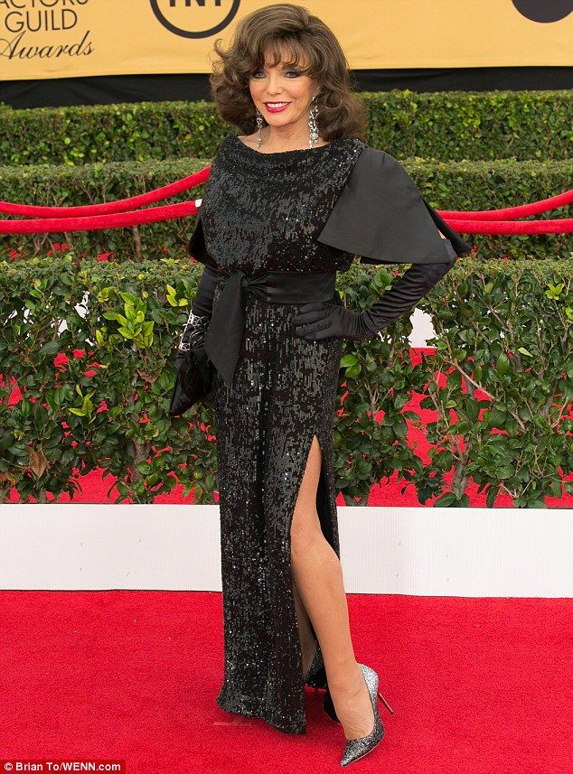At 81 Joan Collins Pictured Sparkled In Sequins On The
