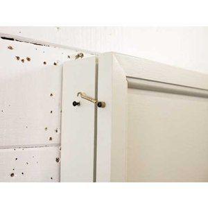 Jewelry case wall hanging wooden door antique white w25d7h40cm wooden hinoki …