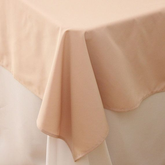85 X 85 Inch Blush Table Overlays Square Blush Tablecloths