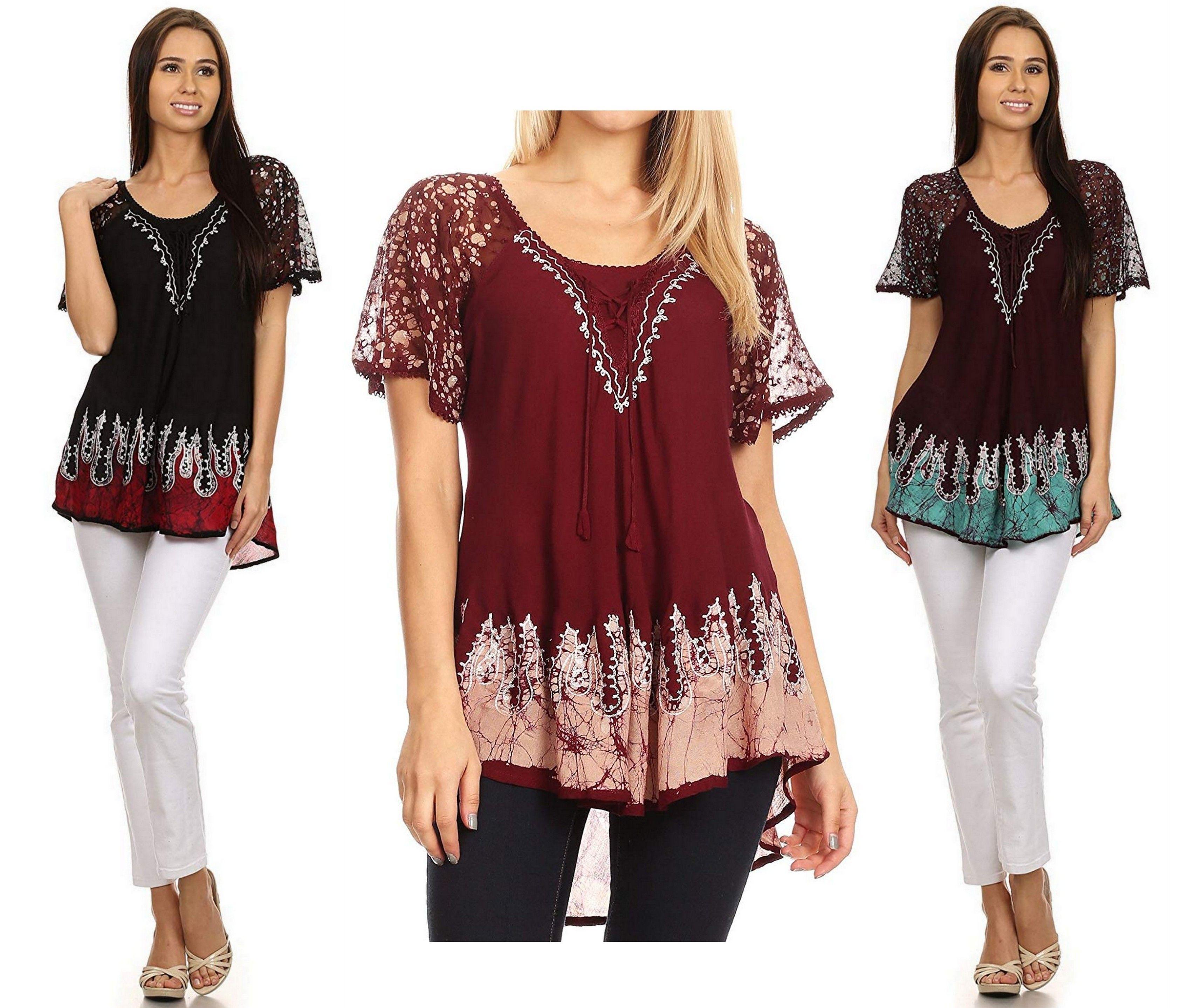 Sakkas Cora Relaxed Fit Batik Design Embroidery Cap